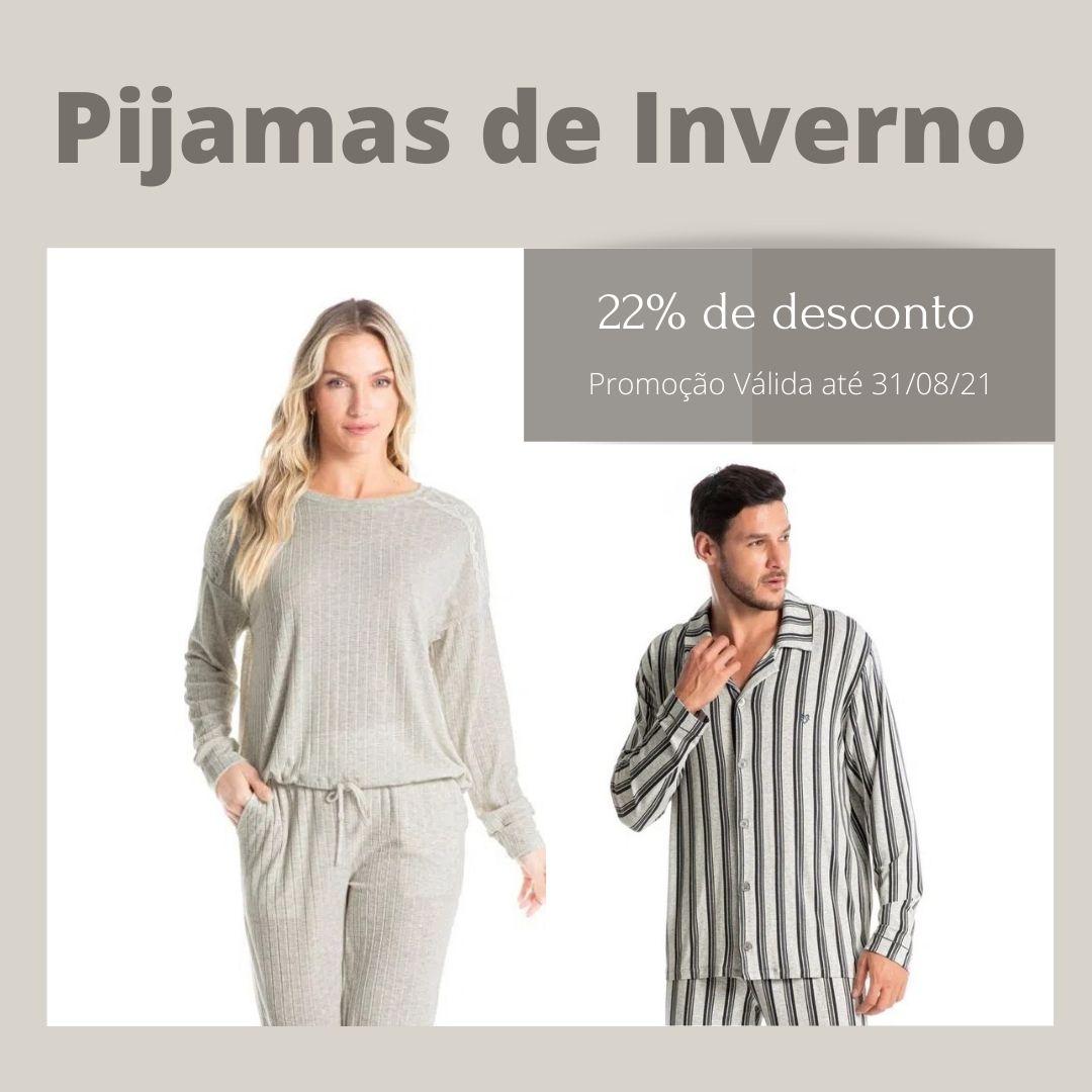 Pijamas de inverno com 20% de desconto(1)